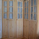 Corner wardrobes in Chester home