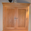 Handcrafted bathroom cabinet