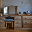 Handcrafted dressing table and chest of drawers